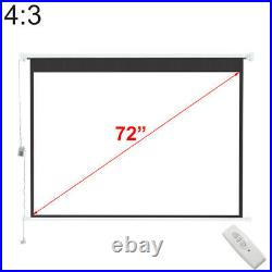 100 120 Electric Motorised HD Projector Screen Home Cinema 43 169 With Remote