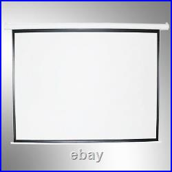 100'' 43/169 Electric Motorized Projector Screen Cinema Home HD TV Matt White