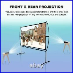 100 Home Cinema Projector Screen with Stand Mobile Easy Install