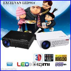 1080P HD 5000 Lumen LED LCD 3D Projektor Beamer Heimkino Projector HDMI/USB/ATV