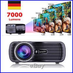 1080P U80 7000Lumen TV Beamer HD Heimkino Projektor LED/LCD HDMI VGA AV USB DE A