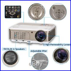 1080p 4000lm Wifi Home Cinema Bluetooth Projector HD Xbox PS4 Game Party Airplay