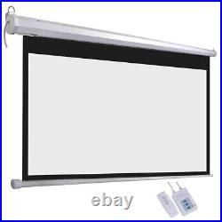 120 169 Electric Motorised Projector Screen Home Office Cinema HD Projection