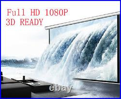 120 Electric Motorised Projector Screen 3D HD Home Cinema 169 43 Projection