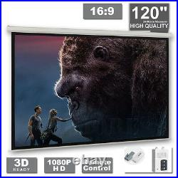 120 Electric Projector Projection Screen Motorised Remote Home Cinema PURE 169