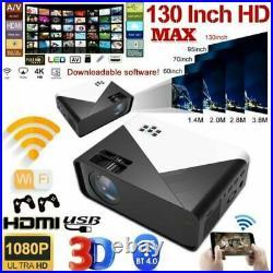 17000 Lumens HD Projector 4K Wifi HDMI 1080P Home Cinema Theater HDMI USB SD VGA