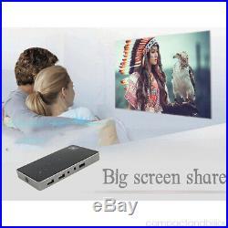 20001 4K Smart DLP Mini Portable Projector 1080P WiFi Home LED Theater Cinema