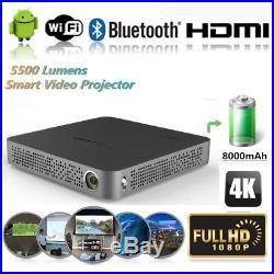 2018 Mini Portable DLP 4K Home Cinema Wifi Bluetooth HD 1080P Projector HDMI USB