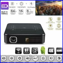 2019 HD 4K DLP Home Theater Projector Wifi 1080P Mini Android Cinema 2G+16G HDMI