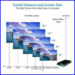 3000 Lumens DLP Android Wifi Bluetooth 1080P HD Video Home Cinema Projector HDMI