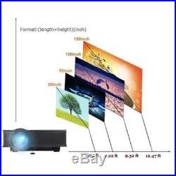 3000 Lumens Mini 1080P HD LED Multimedia Projector Home Theater Cinema USB HDMI