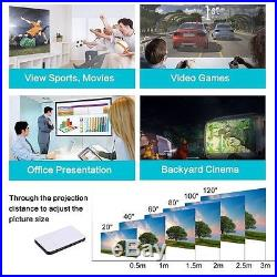 3000LM Android DLP 1080p Full HD Home Theater Projector Wifi HDMI LED Cinema SD