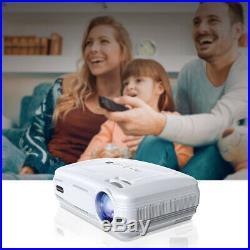 3D HD 1080P 7000 Lumens LED 200 Projector Home Cinema Theater USB/HDMI/VGA/AV