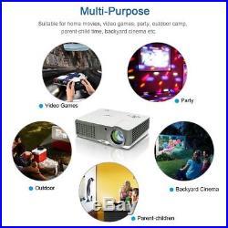 4000Lumen LED Beamer Heimkino Videospiele LCD Projektoren Full HD 1080p TV Spiel