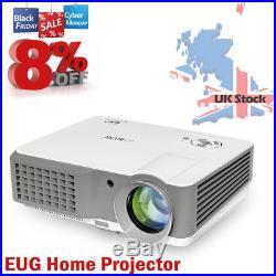 4000Lumens LED Beamer Heimkino Videospiele LCD Projektoren Full HD1080p UK Stock