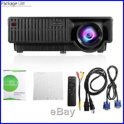 4K 1080P Full HD LED Projector WiFi Bluetooth HDMI Home Theater Cinema Android