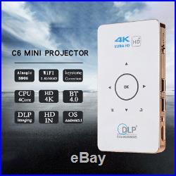 4K DLP Mini Pocket Android Projector 3D HD WiFi LED Home Cinema HDMI Bluetooth
