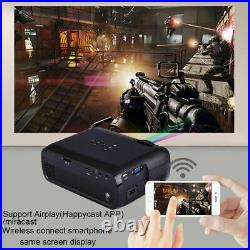 4K HD 1080P 3D LED Projector WiFi BT HDMI Home Theater Cinema Android HA