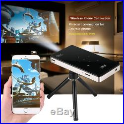 4K Smart DLP Mini Projector Android WiFi Bluetooth 1080P 8G Home Theater HDMI SS