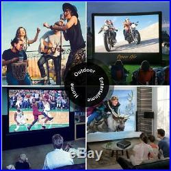4K Video Projector LED Home Cinema ZOOM Native 1080P 100001 HDMI USB Movie Xbox