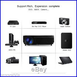 5000 Lumen HD 1080P 3D LED Projector Home Cinema HDMI2/USB2 /VGA/TV/Y/Pb/Pr UK