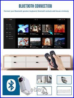 5000 Lux 1080P FHD VIDEOPROJEKTOR WIFI WLAN Bluetooth Home LED Projektor 170° DE