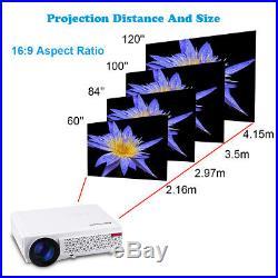 5000 lumens Beamer HD 1080P LED/LCD 3D Heimkino Projektor USB für iPhone Android