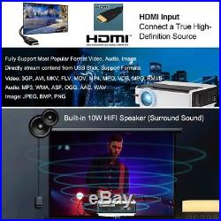 5000LMS Smart Android Video Projector WIFi DVB-T2 Home Cinema HD 1080p HDMI USB