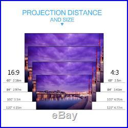 5000Lumen 3D 1080P LED Projector Multiscreen Moive Cinema HDMI/USB/AV/VGA/ATV UK