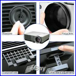 5000lms WIFI HD LED Home Theater Projector Movie Video USB HDMI 1080p UP TO 200