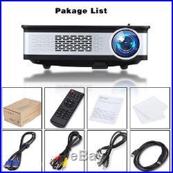 6000Lumens HD 1080P LED Projektor Außen Heimkino Beamer HDMI VGA USB AV SD YPBPr