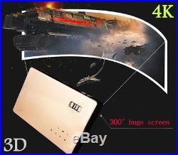 7100 Lumens 4K HD 1080P Home Theater Cinema LED DLP 3D Wifi Projector HDMI VGA