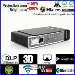 8500 Lumens DLP Wifi Full HD 1080P Projector Home Theater 3D 4K Cinema HDMI USB