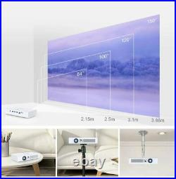 8700 Lumens DLP Android 4K 3D Home Cinema Projector HD 1080P Wifi HDMI USB SD UK