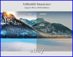 8700Lumens DLP Android 4K HD 1080P Wifi 3D Home Cinema Projector HDMI USB SD AV
