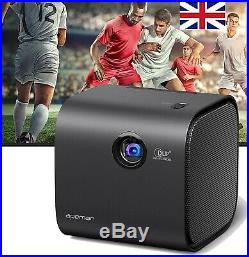 APEMAN HD DLP Mini Projector Portable Video Cinema Projectors for Home BUNDLE
