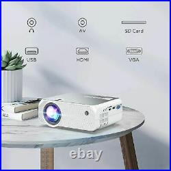 BOMAKER Wireless Projector, 6000 Lux, 300'' Display for Android / iOS / Laptops