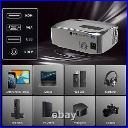 Beamer Heimkino-Beamer, 7500 Lumen, Native 1080p Beamer Full HD, Unterstützt 4k
