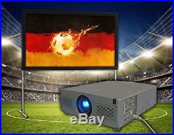 Beamer Set Fußball WM 2018 EIKI Projektor HD Ready + Leinwand 250cm 150 Leute