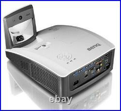 BenQ MW853UST+ Ultra Short Throw 3D HD Projector 3200 lumens HDMI USB LAN (WXGA)