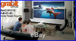 BenQ W1110 3D FULL HD HOME THEATRE CINEMA PROJECTOR + 2 GLASSES FREE DELIVERY