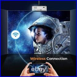 Bluetooth WiFi Projector, Yaber V6 9000L 4K Video Projector Native 1920x1080