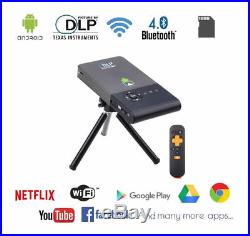 C2 Mini Projector DLP Wifi LED Smart Android TV Box WiFi DLNA HD 1080P 1GB 8GB