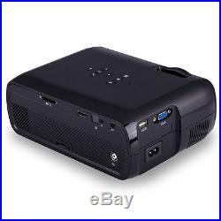 DE 4000 Lumens Android 4.4 WIFI Heimkino Beamer USB VGA HD LED Theater Projektor