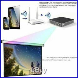 DLP HD 4K Home Cinema Projector Wifi 1080P Mini Cinema 16G HDMI 5500 Lumens USB