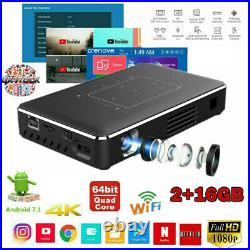 DLP Projector 5000Lumen Android Wifi 4K HD 1080P HDMI USB Home Theater Cinema