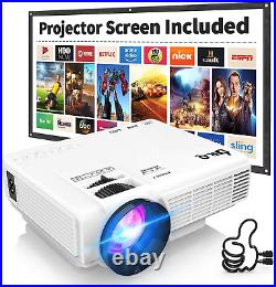 DR. Q Projector with Projection Screen 1080P Full HD and 220'' Display HI-04