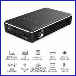 Dlp Mini 3d Projector 1080p 4k Hd Home Cinema 5000 Lumens Wifi Bluetooth Hdmi Uk