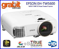 EPSON EH-TW5600 Full HD Home Theatre Projector 3D LCD 1080P FREE POSTAGE