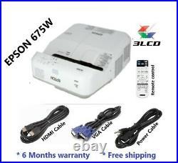 EPSON POWERLITE 675W SHORT THROW PROJECTOR (6 Months Warranty)